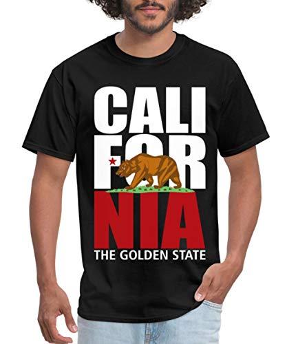 Spreadshirt California Bear Men's T-Shirt, 6XL, Black