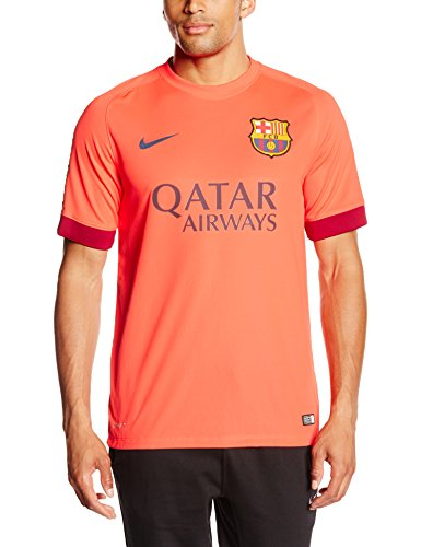 Nike Barcelona Mens Away Soccer Jersey (Bright Crimson) Medium