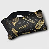 Voyage Travel Pillow Eye Mask 2 in 1 Portable Neck Support Scarf Music Guitar Ergonomic Naps Rest Pillows Sleeper Versatile for Airplanes Car Train Bus Home Office