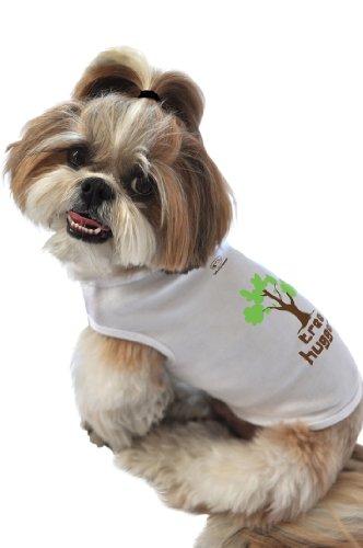 Treehugger Costume (Doggie Tank Top, Tree Hugger, White, Extra-Large)