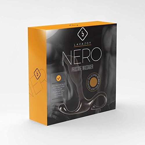 Premium Silicone Velvet Touch P Massager Nero and Paraben Free Hypoallergenic Personal Water-based Lubricant 7 Oz
