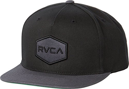 RVCA Men's Commonwealth Snapback Hat, Black/Grey, One - Snapback Hats Best