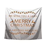 Startview New Fashion Christmas Xmas Tapestry Hippie Room Bedspread Wall Hanging Throw Blanket (G)