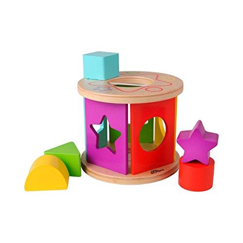 Solini boîte à formes Couleurs & Formes jouet en bois, multicolore