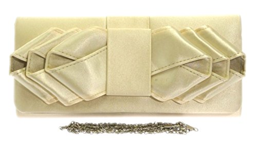 Prom Girly Beige Clutch Bride Colors Events Satin Handbags Elegant Pleats Wedding Retro Occasions Bag Shoulder OOxTZ1q
