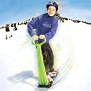Geospace Ski Skooter: Fold-up Snowboard Kick-Scooter for Use on Snow & Grass, Assorted ColorsGeospace Ski