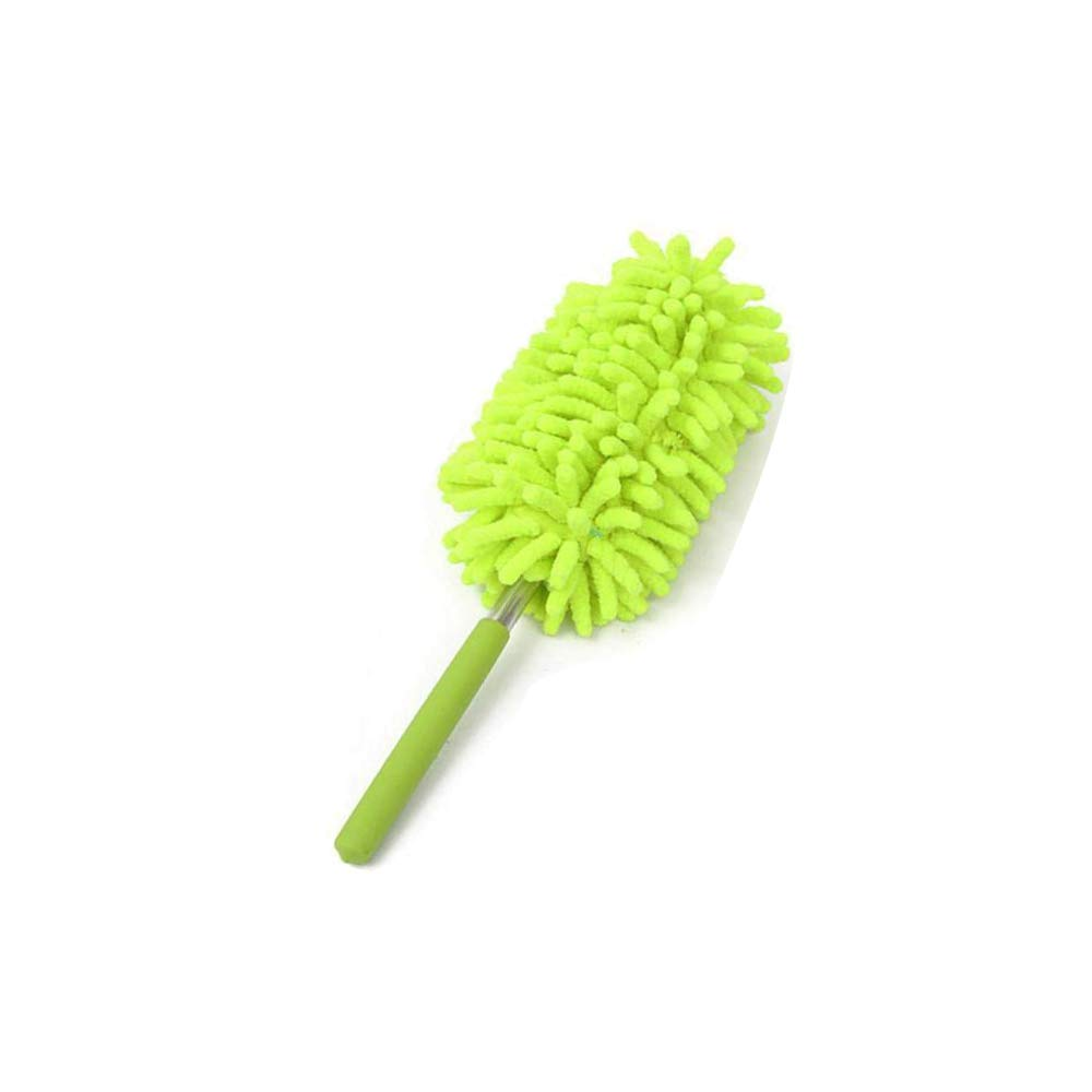 Fochutech Car Duster Handle Chenille Retractable Lint Wax Free Home Washable Dusting Telescoping Pole Exterior Interior Mitt Brush Mini (Pink)