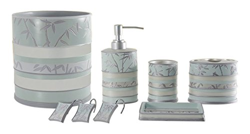 Daniel's Bath & Byound Venezia Accessory Set 5-Piece-Bathroom, Aqua, 5 l (Venezia Piece 5)