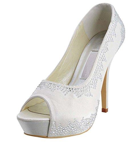 Minitoo ,  Damen Modische Hochzeitsschuhe Ivory-12cm Heel
