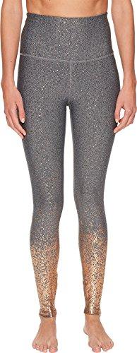Beyond Yoga Alloy Ombre Sport Flex High Waist Midi Legging, Black White Rose Gold Speckle, Small (Gold Ombre)