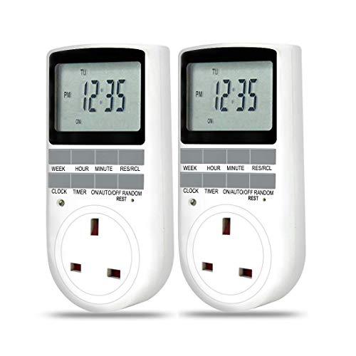 Electronic Digital Plug in Timer 24 Hours / 7 Day timer Plug Socket...