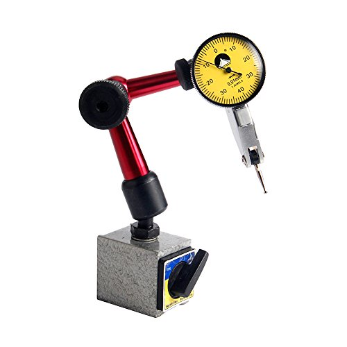 FUJISAN Mini Dial Test Indicator with Magnetic Base 0-0.8mm/0.01mm Shockproof