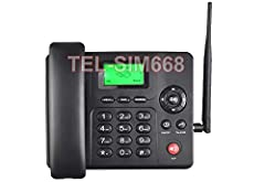 """This 3G phone has large keypad with 2.4"""" LCD TFT screen. Easy to use and can also help the elderly and people with disability for phone calls.  No landline service needed from local phone company. Save you monthly fee for home phone bill by ..."""
