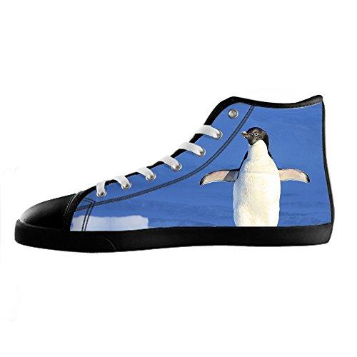Custom Pinguin Mens Canvas shoes Schuhe Lace-up High-top Sneakers Segeltuchschuhe Leinwand-Schuh-Turnschuhe B
