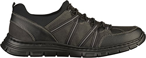 Rieker B4871-03 Schwarz (zwart) Heren Trainers Zwart / Graniet / Zwart