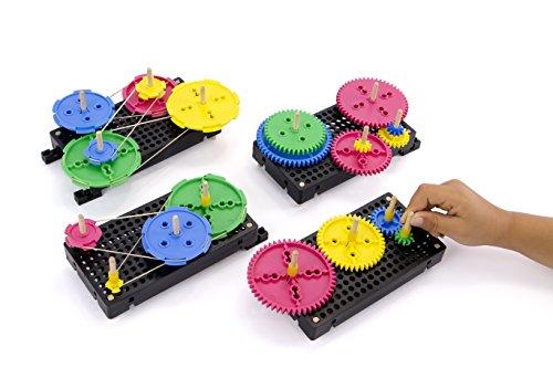 TeacherGeek Gears & Pulleys Tinker STEM | STEAM Activity Set ()
