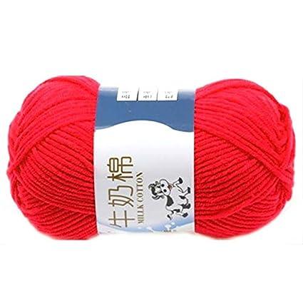 Amazoncom Crochet Yarn Types 1 Group Milk Cotton Wool Yarn Soft
