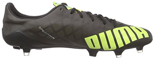 Puma 08 schwarz Uomo Sl white black Scarpe Calcio Yellow Nero Fg Evospeed safety Da rfOZrn