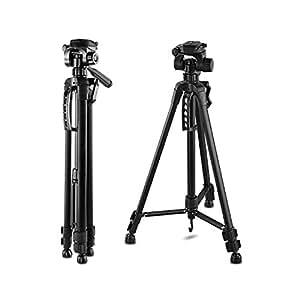 "61-Inch 61"" Tripod Lightweight Aluminum with Bag for Canon Nikon Sony Pentax Sigma Fuji Olympus Panasonic JVC Samsung Cameras Camcorders"