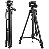 55-Inch 55 Tripod Lightweight Aluminum with Bag for Canon Nikon Sony Pentax Sigma Fuji Olympus Panasonic JVC Samsung Cameras Camcorders