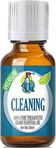 Cleaning Blend 100% Pure, Best Therapeutic Grade Essential Oil - 30ml - Lemongrass, Lemon Eucalyptus, Lavender, Rosemary, Tea Tree