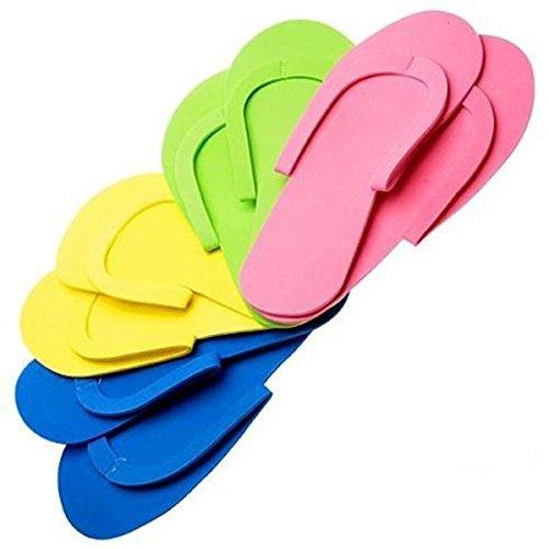 12 Pair Bg, 360 Pairs Disposable Pedicure Foam Flip Flop Slippers SEWING