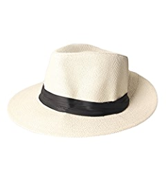 Dantiya Paper Straw Fedora Cap Panama Hat (Beige) at Amazon Men s Clothing  store  fa7b44561d32