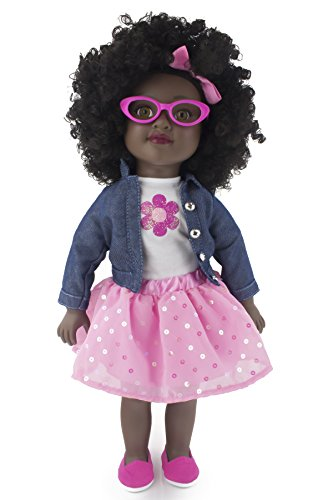 Positively Perfect Kennedy African American Fashion Doll, 18