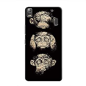 Cover It Up Three monkeys Hard Case for Lenovo K3 - Multi Color