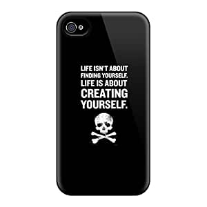 QDsY422 Faddish Life Is Black Case Cover For Iphone 4/4s