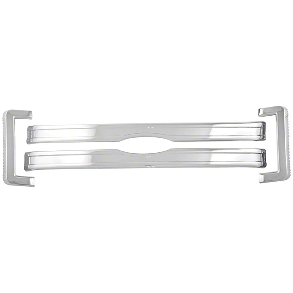 Car Truck /& Jeep Accessories OxGord Front Grille Insert Overlay Trim for 2013-2014 Ford F150 Van Chrome Snap On Billet Style