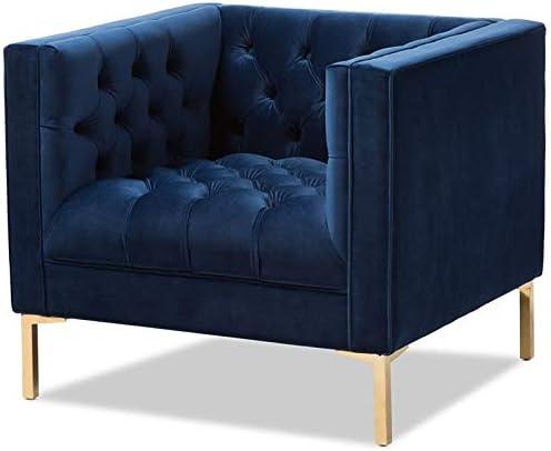 Baxton Studio Zanetta Velvet Tufted Lounge Chair