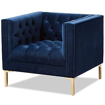 Prime Amazon Com Baxton Studio Zanetta Velvet Tufted Lounge Chair Dailytribune Chair Design For Home Dailytribuneorg