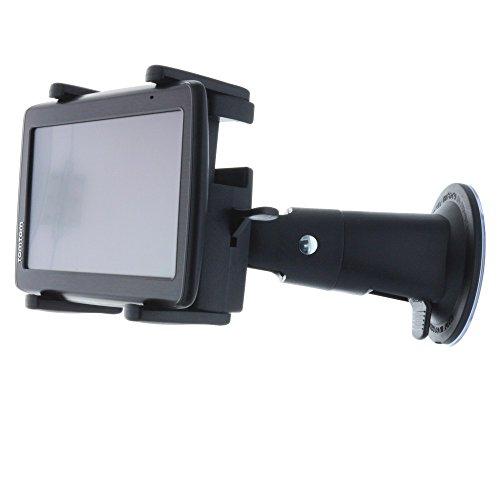 Smart-Planet Navi Kfz- Halterung / Auto Halterung mit Schnellverschluss für viele Navis / Navigationsgeräte - universell für alle Geräte Navigtions - Geräte mit der Breite von 8,5 - 17 cm und Höhe von 6,0 - 10,0 cm - Mit Saugnapf für die Autoscheibe - vibrationsfrei / 360 Grad drehbar