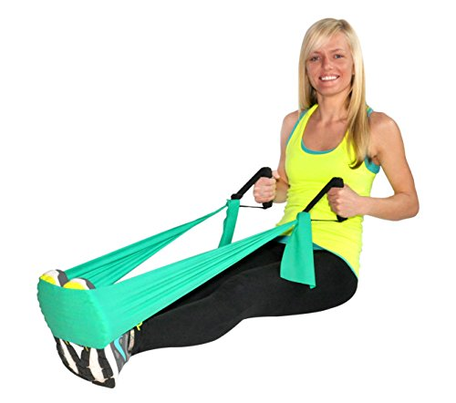 SUPER EXERCISE BAND Flat Resistance Band Handles For Comfortable Grip When Doing Strength Training, Physical Therapy, Pilates & Chair Workouts With Flat Resistance Bands. Plus Stretch Band E book.