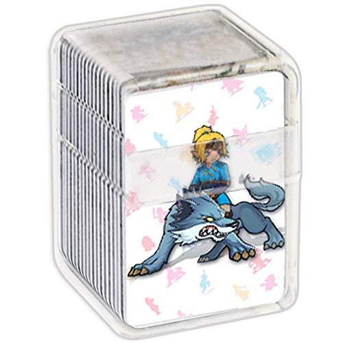NFC Tag Game Cards for the legend of Zelda Breath of the Wild,22pcs Botw Cards with Crystal Case Compatible with Nintendo Switch/Wii U (Nintendo Toon Link Amiibo)