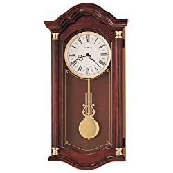 Howard Miller Lambourn Wall Clock in Cherry
