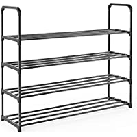 iFeather Shoe Rack, 4-Tier Shoe Organizer, Hold up to 20 Pairs of Shoes, Stackable Shoe Tower for Living Room, Entryway…