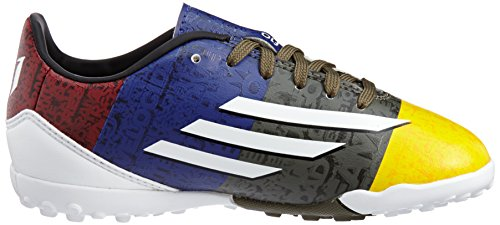 adidas - Botas de fútbol para niño gold/green/white Azul marino-Blanco-Rojo burdeos