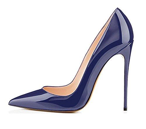 Heels High A A Edefs Scarpe Classico Tacco Col 12cm Donna Da navy Spillo R4Rawq