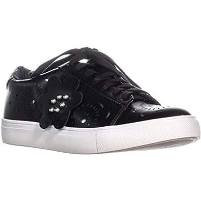 Nanette Lepore Wesley Lace Up Sneakers, Black, Black, Size 8.5 US