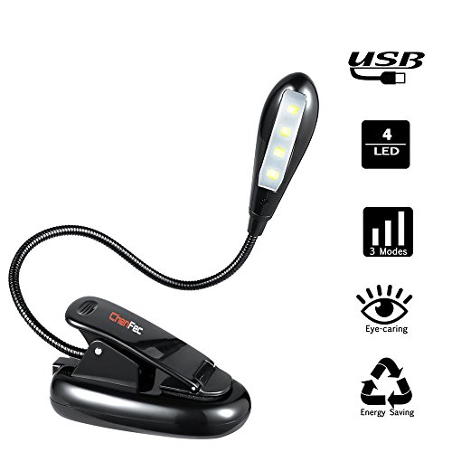 USB 3 LED Clip On Lamp Bulb For Laptop Computer Black - 7