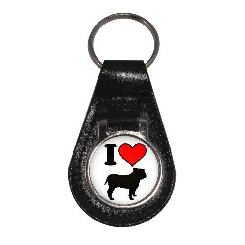 design Bulldogs in pelle Love I di Portachiavi tnOq68fwt