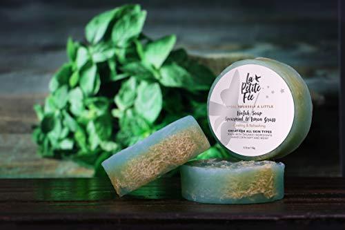 Loofah Soap (Bath Sponge Inside), Handmade in the USA, 100% Organic, For All Skin Types, Face, Body, Men, Women by La Petite Fee