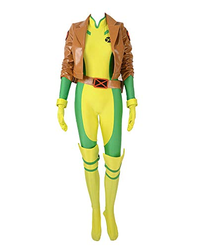 Miccostumes Women's Rogue Cosplay Costume (WL) Brown ()