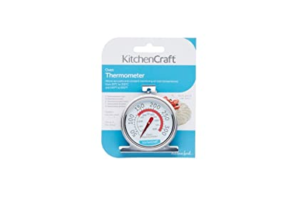 Kitchencraft Stainless Steel Oven Thermometer 6 5 X 8 Cm 2 5 X 3