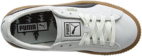 Platform gold Blanc Basses Black Puma puma Sneakers White Perf Gum puma Femme Basket H77n5qxF