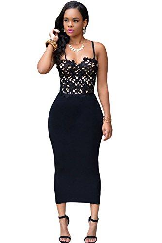 Bustier Encaje Bodycon Vestido Club Wear TAMAÑO UK/S 8–�?0