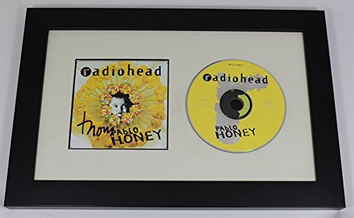 Radiohead Pablo Honey Thom Yorke Authentic Signed Autographed Music Cd Cover Compact Disc Framed Display -