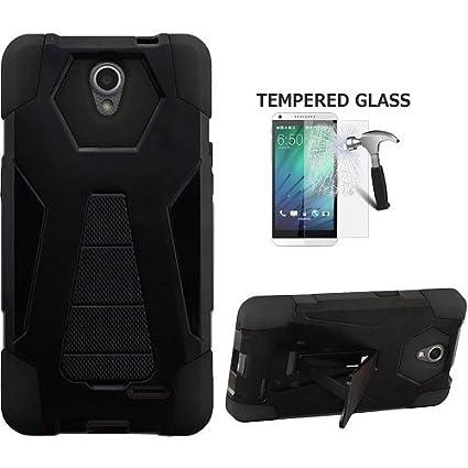 finest selection 764bb 855ca ZTE Prestige 2 Protective Case, Phone Case for ZTE ZFIVE 2 LTE Case, at&T  Prepaid ZTE Maven 3, ZTE Prelude Plus Case, Hybrid Cover Case Kickstand +  ...